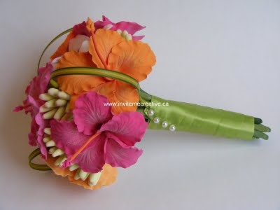 Hibiscus wedding bouquet!
