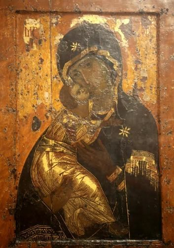 unnamed - 850 years old - made in CONSTANTINOPLE - Vierge de Vladimir -