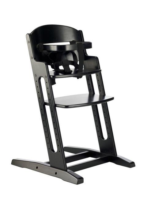 Baby Dan - Drewniane krzesełko do karmienia DANCHAIR - czarne