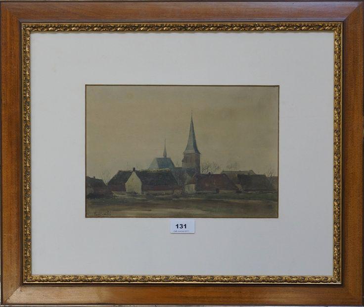Paul Bodifee (1866-1938), l.o. gesigneerd en gedateerd ?, aquarel, gezicht op een dorp