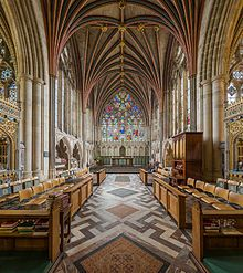 The Lady Chapel, Cathedral Church of Saint Peter at Exeter, England, completed ca. 1400.