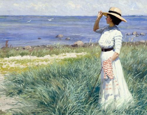 A Young Woman on the Beach - Paul Gustave Fischer