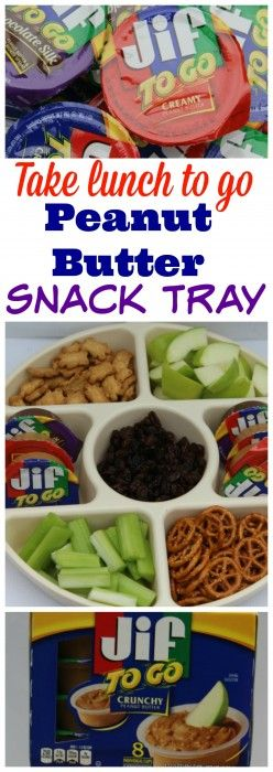 Jif To Go is a great way to serve up a fun portable healthy meal by making a peanut butter snack tray #JifToGo Sponsored @jifpeanutbutter