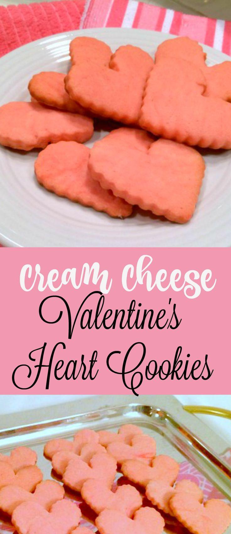 Cream Cheese Valentine's Cookies