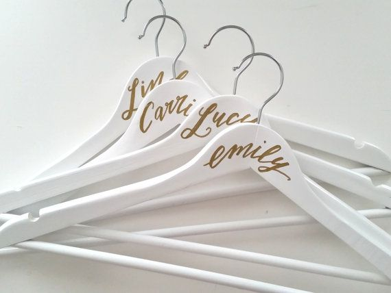 This listing is for ONE (1) Personalized Calligraphy Hanger. The hanger is WHITE colour and made of wood. The lettering is done by hand with