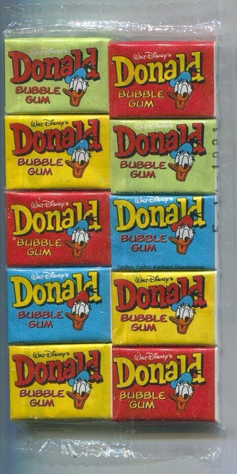 Walt Disney's Donald bubble gum...The old times...