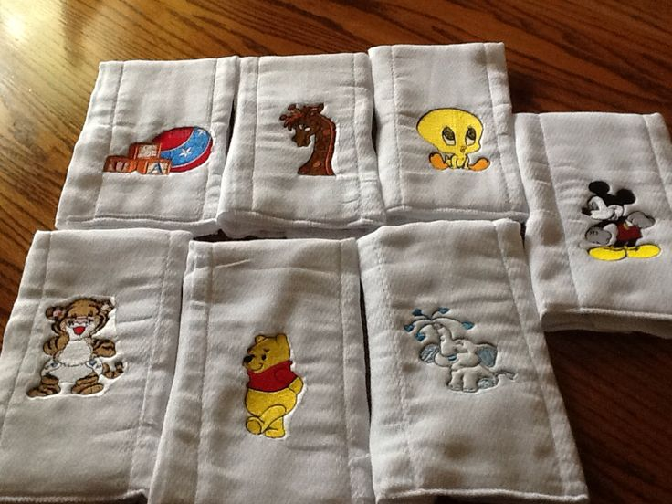Baby Burp Cloth With Funny Expression Saying: 17 Best Images About Embroidery On Pinterest
