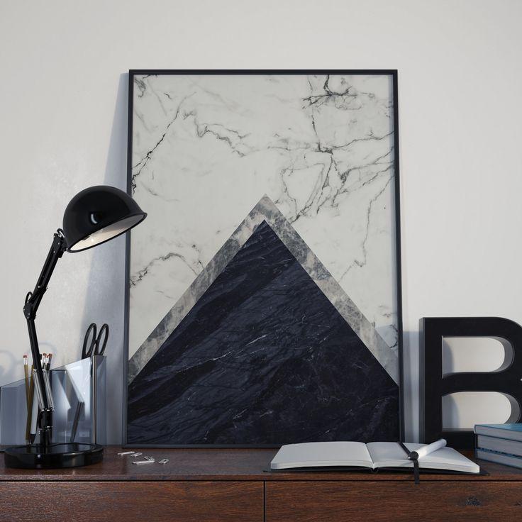Printable minimalist art poster, Black and white marble print, Scandinavian modern print, Printable wall art prints, Modern art by ruPrint on Etsy
