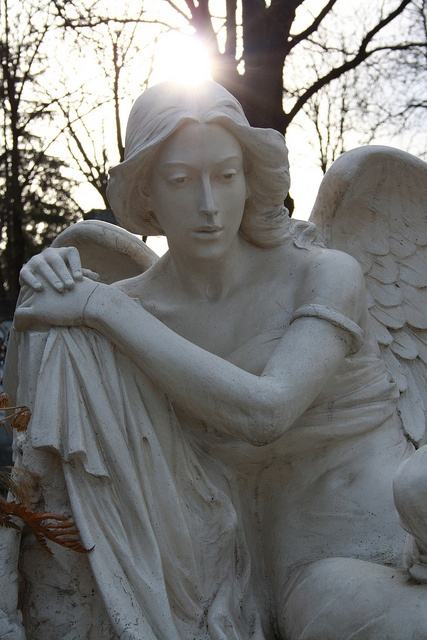 An angel's statue on a grave in Cluj Napoca's most famous cemetery