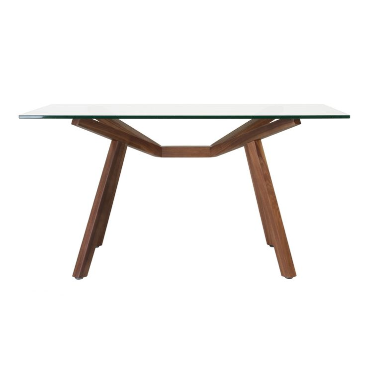 Original sean dix forte dining table glass small matt for 144 dining table