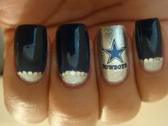 The 25 best dallas cowboys nails ideas on pinterest dallas dallas cowboys nails prinsesfo Images