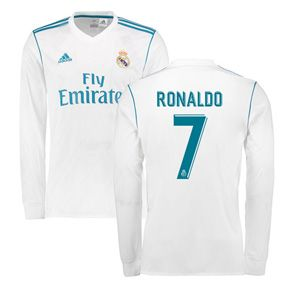 adidas Real Madrid Cristiano Ronaldo #7 LS Jersey (Home 17/18): http://www.soccerevolution.com/store/products/ADI_41000_A.php