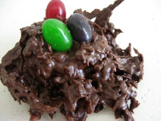 Coconut Chocolate Nests | easter | Pinterest
