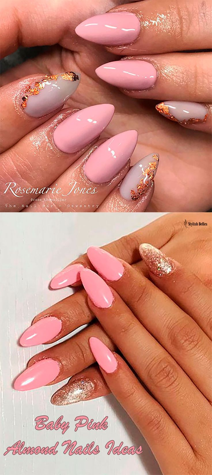 Cute Baby Pink Almond Nails Ideas In 2019 Shiny Nails Designs Baby Pink Nails Nail Designs