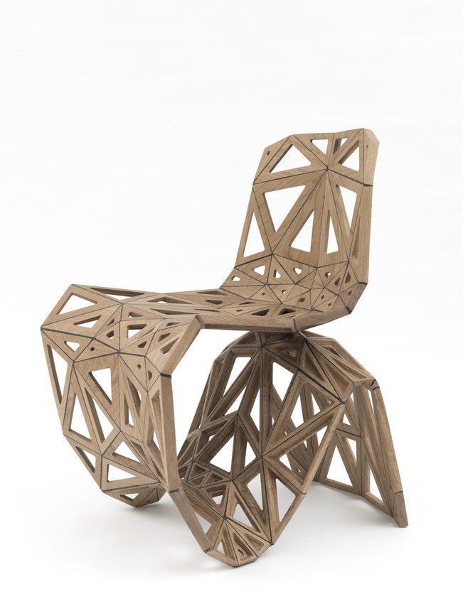 Designer Joris Laarman Uses Printing And Robots To Build Furniture. Here,  His Polygon Oak Chair. Maybe Something For Printer Chat?