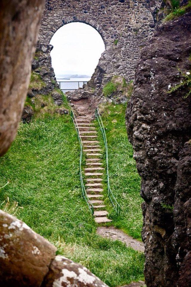 Steps at Dunluce, Northern Ireland