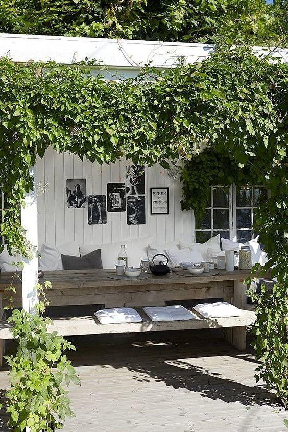 pergola overkapping tuinhuis diy styling