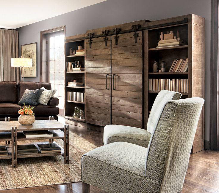 23 Best Ideas About Barn Door Bookcase On Pinterest