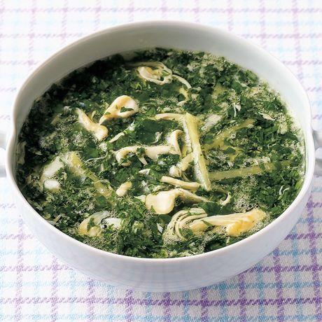 モロヘイヤの中華風かきたまスープ by落合貴子さんの料理レシピ - レタスクラブニュース