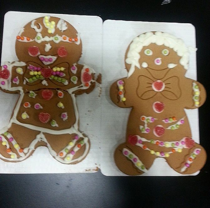 We decorated some gingerbread men!