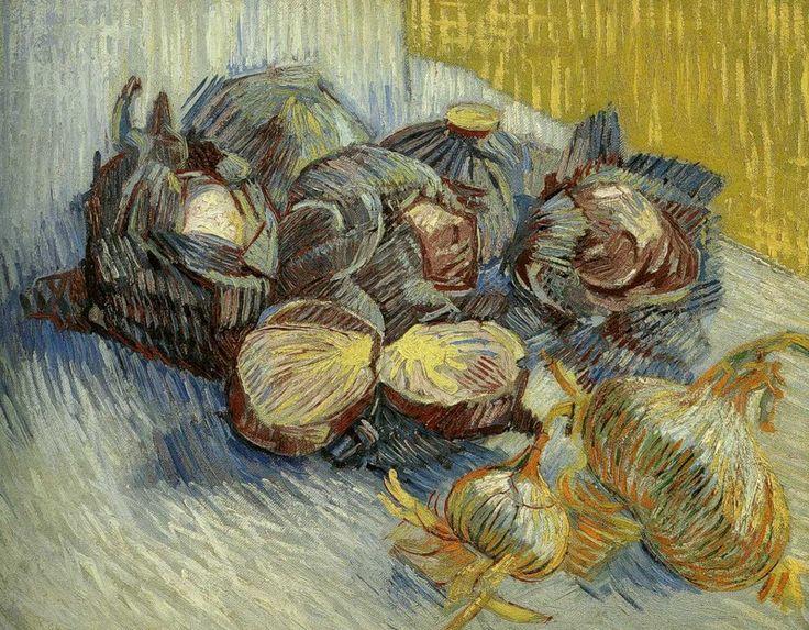 Музей Ван Гога в Амстердаме. Натюрморт с капустой и луком. Париж, зима 1887-1888