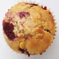 Frambozen Muffins. Heel fijn basisrecept voor muffins met fruit. Ik heb zelf nog wel bakpoeder toegevoegd: 1 theelepel.