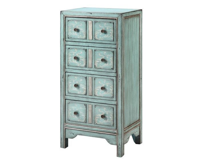 4 Drawer Chest Dresser Bedroom Furniture Storage Organizer Drawers Vintage Wood #Unbranded #AntiqueStyle
