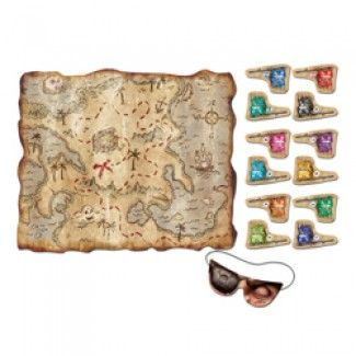 Pirate Party Supplies, Pirate Treasure Map Party Games, Games