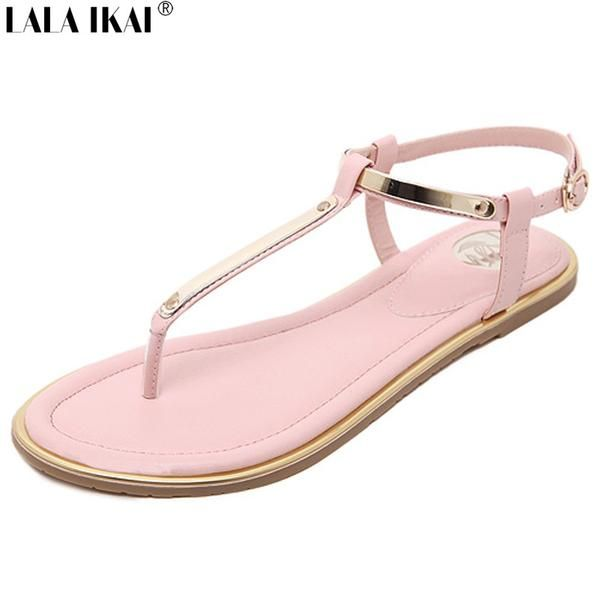 Concise Open Toe Women Flat Sandals - Online Global Shopping Centre