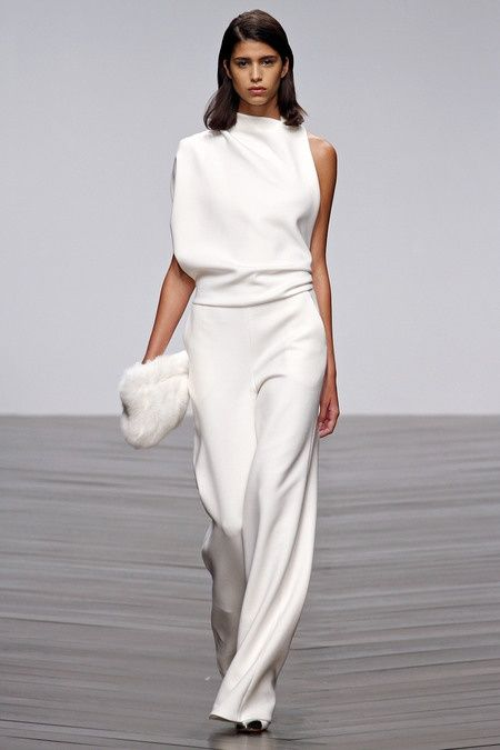 gorgeous white jumpsuit, white accessories