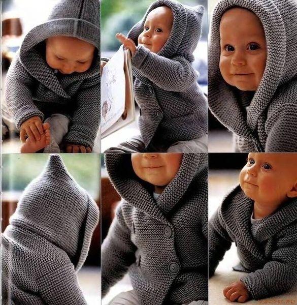 Jacken - Baby-Jacke mit Kapuze - ein Designerstück von lida276 bei DaWanda