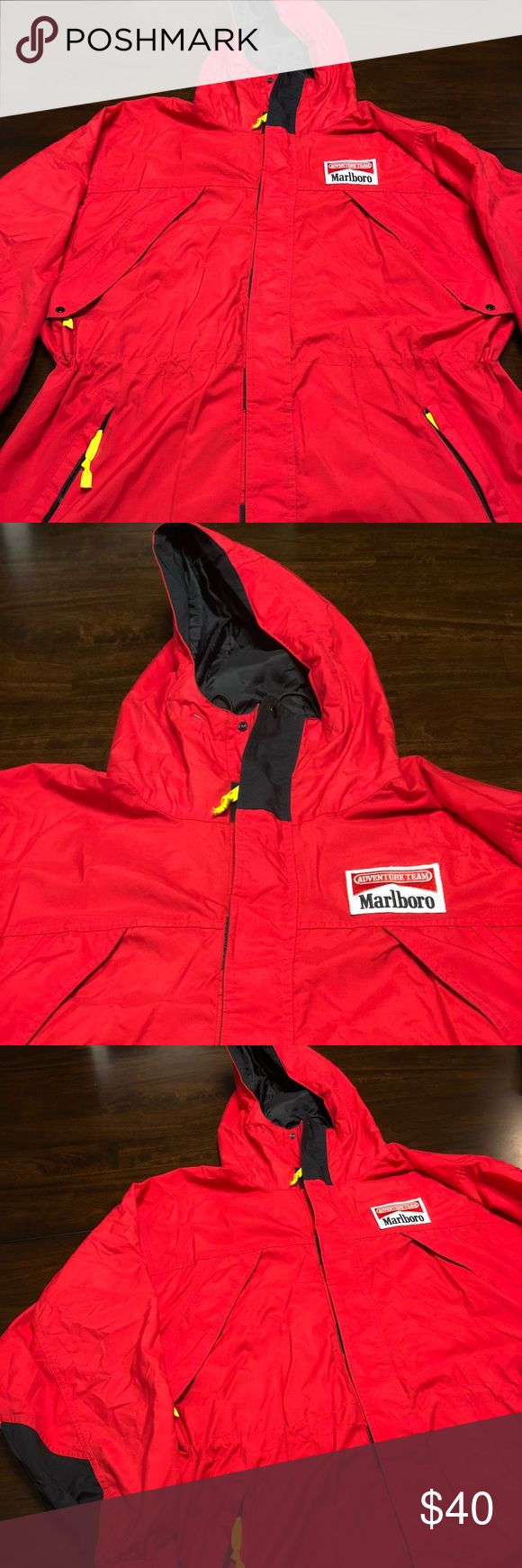 VTG 90s MARLBORO MAN PARKA ADULT L/XL USED CNDTS Adult large fits x large  Preowned conditions   Vintage 90s   Adult large but fits XL aswell   Read measurements below   Pit to pit: 26 in  Shoulder-cuff: 25 in  Collar-waist: 33 in   Light wear and marks however nothing to make the item defective   Not much wear to it marlboro Jackets & Coats Windbreakers