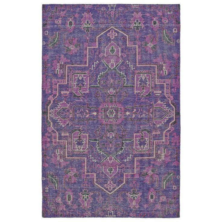 Aanya Hand-Knotted Purple Area Rug