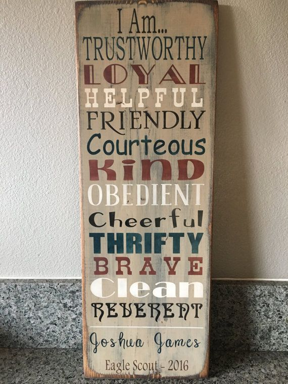 Personalized Eagle Scout Gift  Boy Scout by RobinsPrimitiveNest