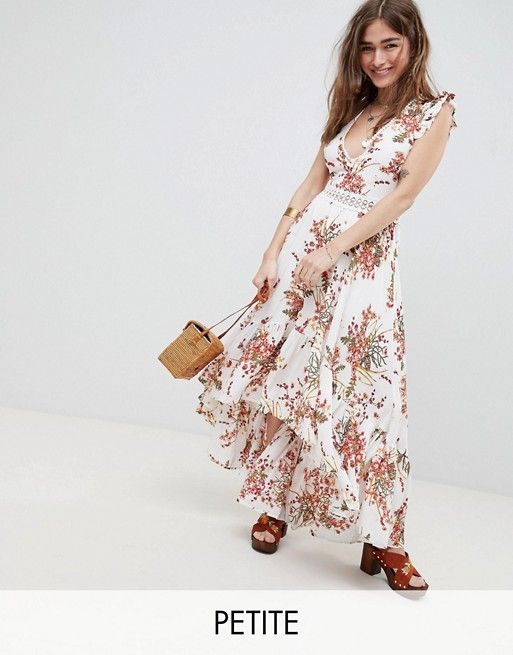 bb429a254a Sisters of the Tribe | Sisters Of The Tribe Petite Hi Lo Maxi Dress In  Floral Print