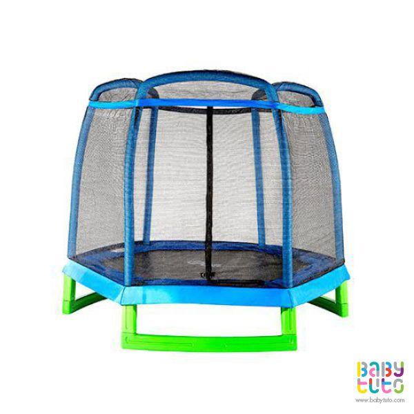Cama elástica 7 pies, $149.990 (precio referencial). Marca Kidscool: http://bit.ly/1LAbW3G