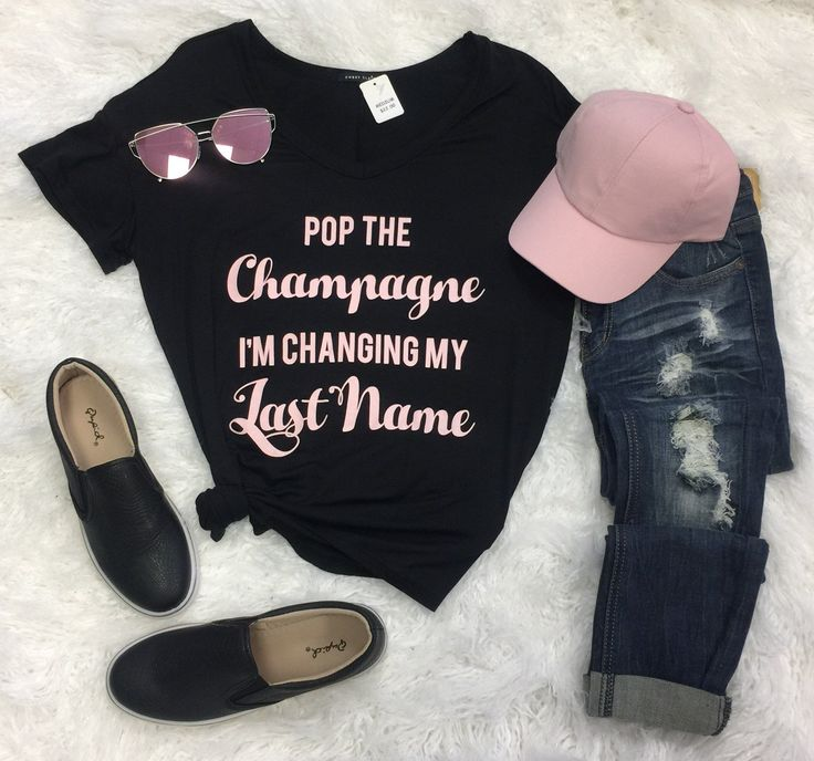 Pop the Champagne Im Changing My Last Name | privityboutique perfect for the bride to be #bridetobe #futuremrs