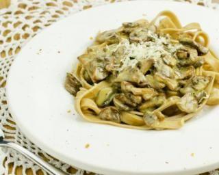 One pot pasta aux champignons à la crème légère