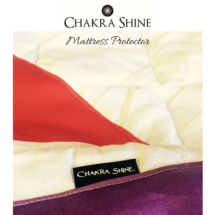 The stunning Chakra Shine brand is now available in Mattress Protectors.    For the more discreet Chakra Lover, you will still gain the benefits of a vibrational colour massage every night, from under the sheets!       Colour perfectly aligned to your Chakras.    Materials and Composition:  Top fabric: Cotton / Bottom fabric: 50 GSM Non-Woven / Filling: 100 GSM 7D Polyester Skirt: 100 GSM Polyester Knitted Fabric - skirt stretches up to 45cm    Care Instructions:  Machine Washable for Easy…