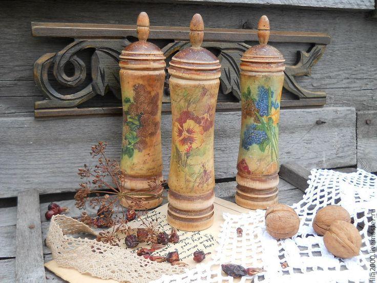 Купить Баночки для специй. Набор Весенний аромат - банка для сыпучих, банка, банка для продуктов, баночка
