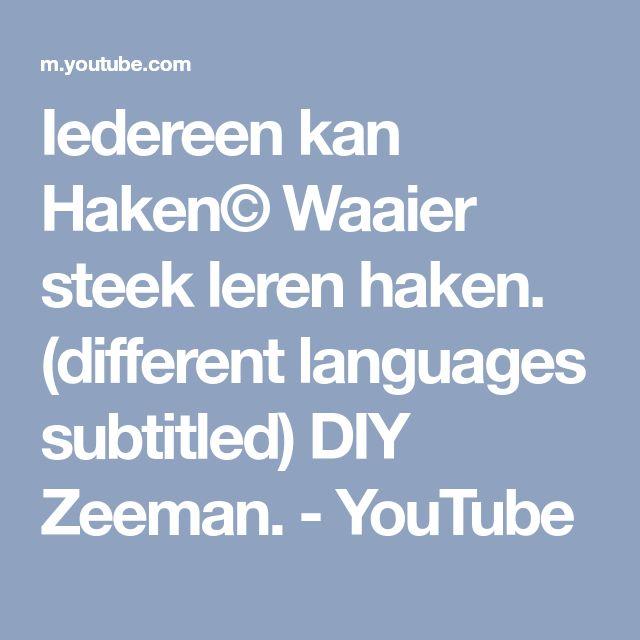 Iedereen Kan Haken Waaier Steek Leren Haken Different Languages