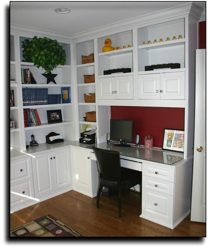 1000+ Images About Built In Desk & Bookshelf On Pinterest
