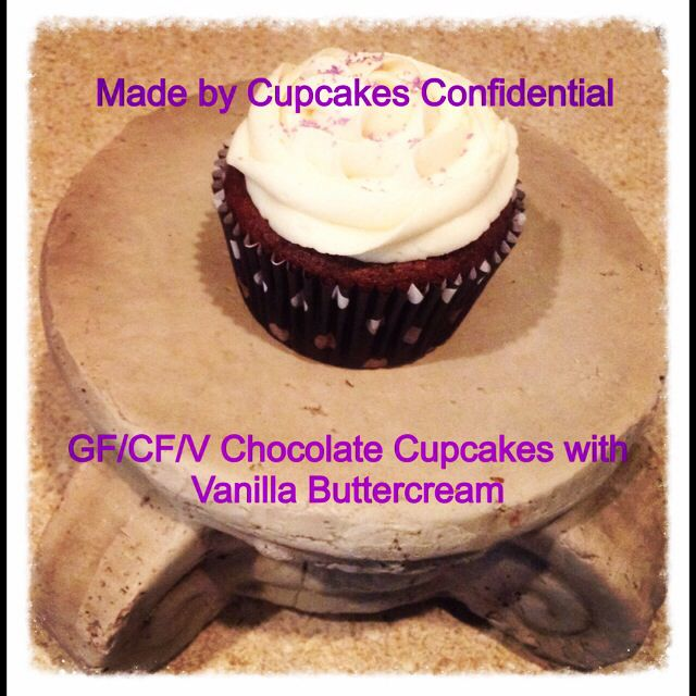 Today's Cupcake: GF/CF/V Chocolate Cupcake with Vanilla Buttercream #glutenfree #caseinfree #vegan #chocolate #cupcake #vanilla #buttercream #frosting #bakery #baking #cupcakery #cupcakeart #disabled #veteran #donationsaccepted #online #edibleart #fromscratch #givingback #gratitude #help #heroes #homemade #helpavet #inneed #military #nonprofit #order #thankful #unsungheroes #veterans