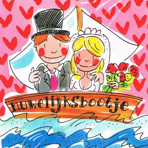 Blond Amsterdam Kaart 110 - Huwelijksbootje