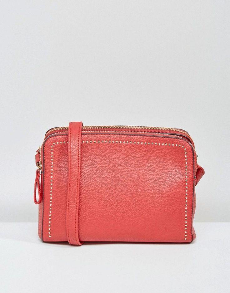 Stradivarius Mini Satchel Bag - Red