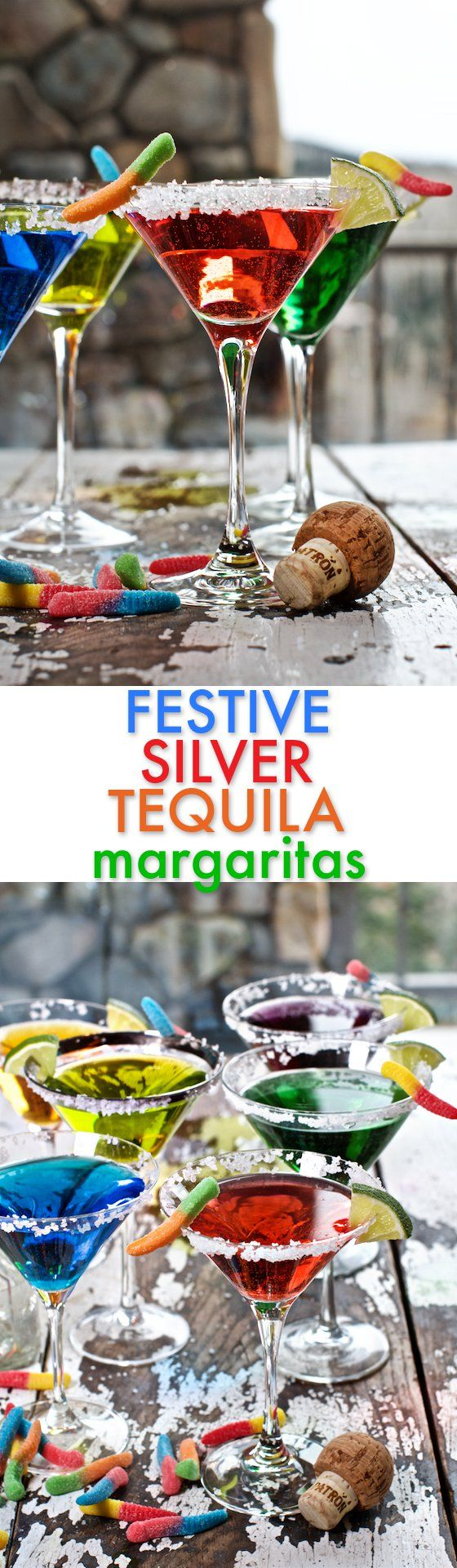 Festive Silver Tequila Margaritas! This Holiday Cocktail Recipe can be custom…