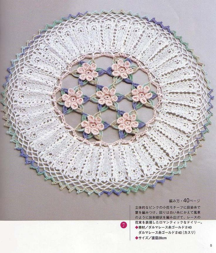 Free Japanese Crochet Doily Patterns : 932 best images about Crocheted Doilies on Pinterest ...
