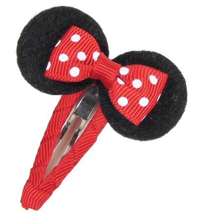 Easy Mickey Mouse Hair Bow Clip Disney Mickey Mouse Hair Bow Clip Tutorial Going to Disney World next week!! Made this one for my little girl.