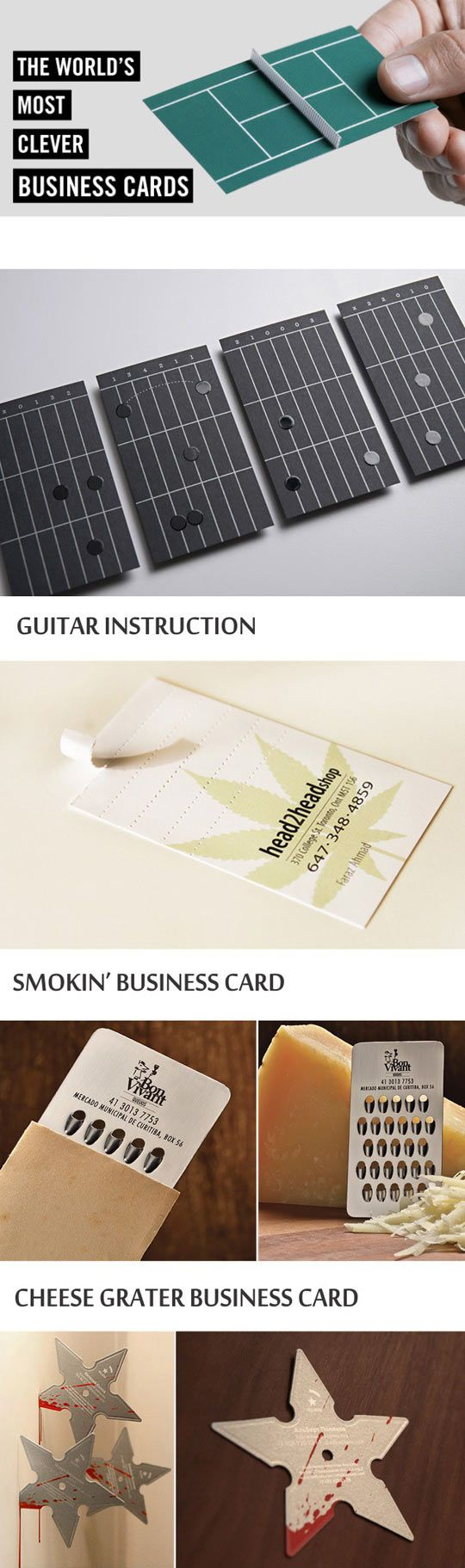The world's most clever business cards…