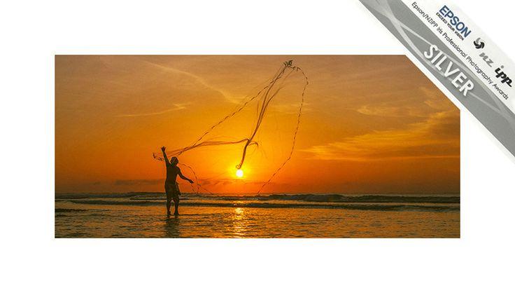 Fisherman, Balangan, Bali, Indonesia. Silver Award Travel Category Epson NZIPP Iris Awards 2014. Justin Aitken